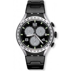Men's Swatch Watch Irony Xlite Night Attack YYS4026AG Chronograph