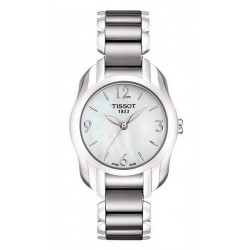 Women's Tissot Watch T-Lady T-Wave Round T0232101111700 Mother of Pearl