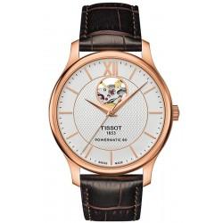 Men's Tissot Watch Tradition Powermatic 80 Open Heart T0639073603800