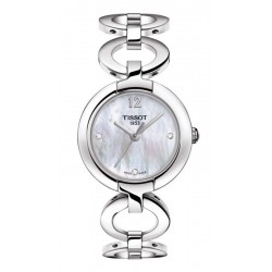 Women's Tissot Watch Pinky T0842101111601 Diamonds Mother of Pearl