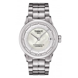 Women's Tissot Watch Luxury Powermatic 80 COSC T0862081111600 Diamonds
