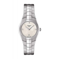 Women's Tissot Watch T-Round T0960091111600 Diamonds Mother of Pearl
